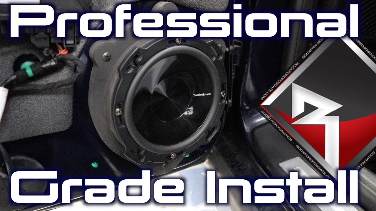 How To Professionally Install Speakers Into An Audi A4 Youtube A8 Stereo Wiring Diagram