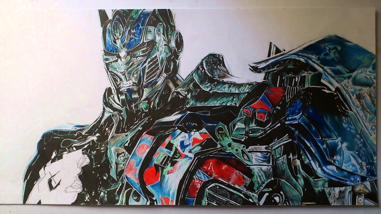 Speed drawing (picture draw ) - Optimus Prime ( Age of ...