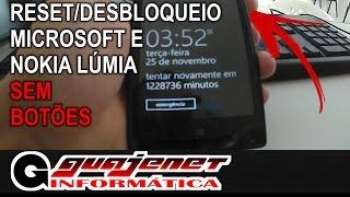 Como formatar (Hard Reset) celular Microsoft ou Nokia Lumia com botão quebrado