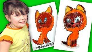 Как нарисовать Котёнка ГАВ из мультика / урок рисования для детей