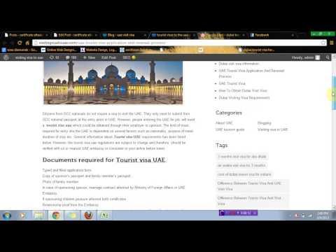 UAE Tourist Visa Application And Renewal Process-tourist visa uae