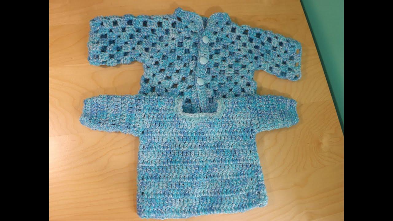 Chaqueta de bebe a crochet