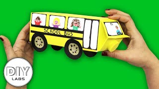 Recycled Milk Carton SCHOOL BUS Craft | Fast-n-Easy | DIY Arts & Crafts for Parents