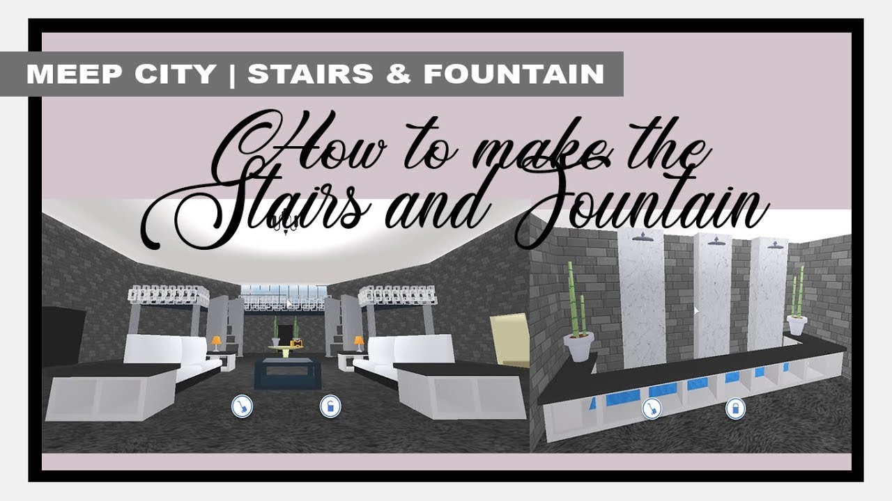 ROBLOX | Meep City: How To Make The Stairs And Fountain - YouTube