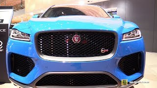 2019 Jaguar F-Pace SVR 550hp - Exterior and Interior Walkaround - 2018 Paris Motor Show