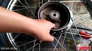 cara Mengatasi Tromol Motor Yang Aus ,mengatasi Rem Belakang Dalam