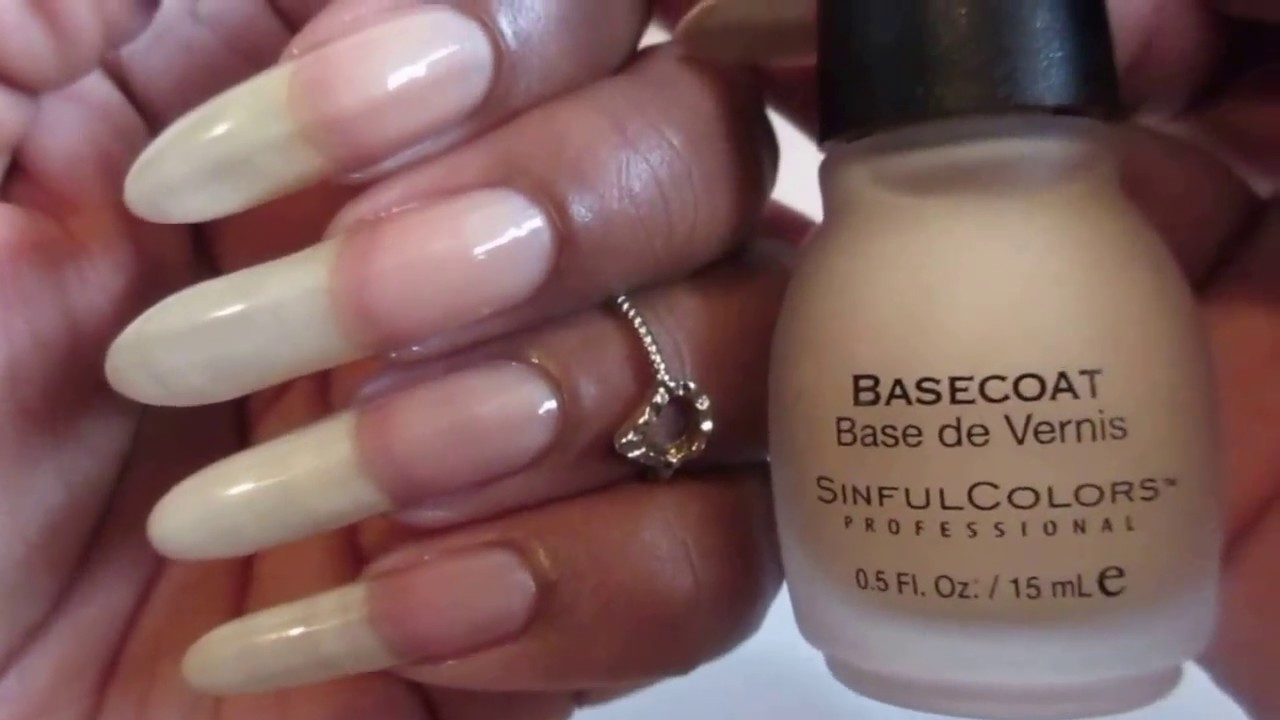 Sinful Colors Basecoat for Natural Nails - YouTube