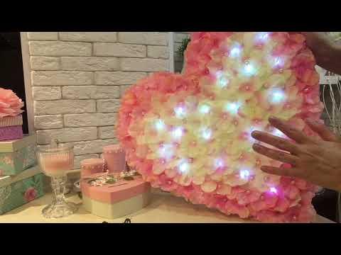 Большое сердце из цветов из FIX price! На День Св.Валентина!