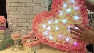 Большое сердце из цветов из FIX price! decorate an apartment on Valentine