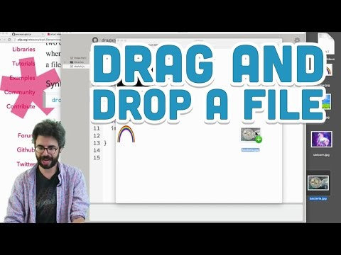 8.15: Drag and Drop a File - p5.js Tutorial
