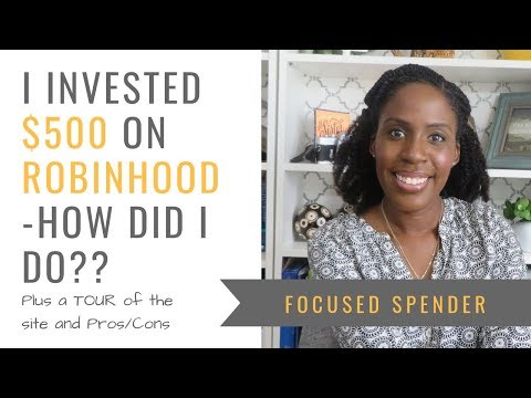 I Invested $500 With Robinhood - Tour, My Gain/Losses And Pros & Cons