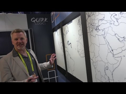 "QuirkLogic Quilla 42"" E Ink Interactive Whiteboard with digitizer, collaboration, productivity"