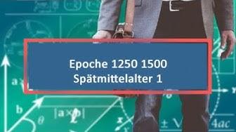 Epoche 1250 1500 Spätmittelalter 1