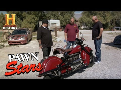 Pawn Stars: Steve McQueen's 1940 Indian Motorcycle  History