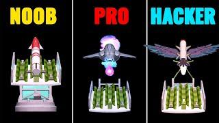 Noob vs Pro vs Hacker in Boom Rockets 3D screenshot 3