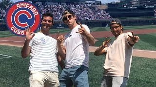 WE SNUCK ON THE FIELD OF A CUBS GAME!!!
