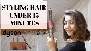 STYLING SHORT HAIR IN 15 MINUTES USING DYSON AIRWRAP | IS IT WORTH BUYING? | TIPS AND TRICKS