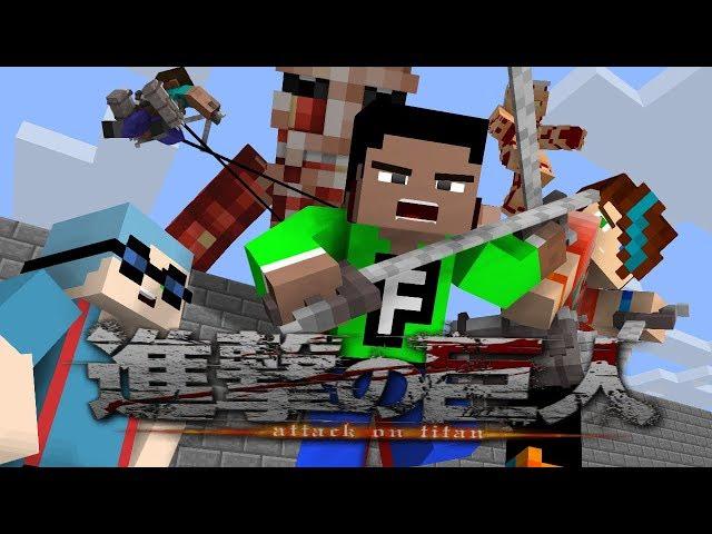 Attack on Tittan s2 mc animation remake Mine Imator Full HD