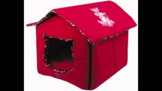 домик для кошки из ткани