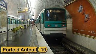 Métro de Paris : Porte d'Auteuil | Ligne 10 ( RATP MF67 )