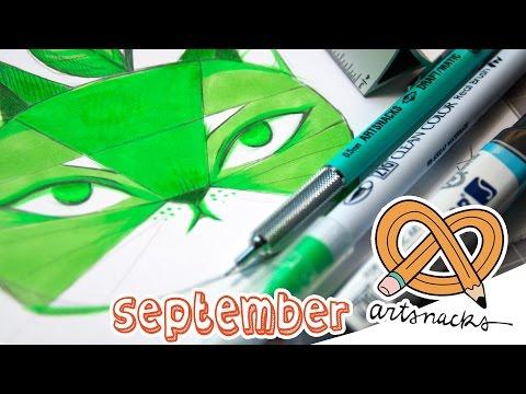 September ARTSNACKS - TWO SHADES OF GREEN