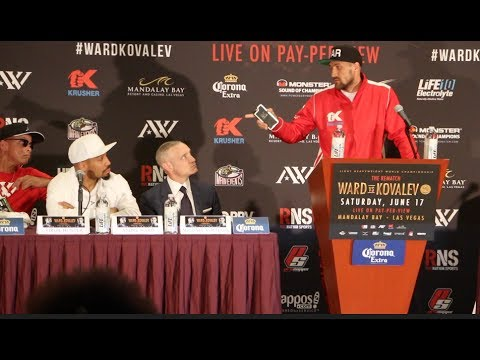 ANDRE WARD v SERGEY KOVALEV - THE REMATCH  **FULL & UNCUT** FINAL PRESS CONFERENCE (COMPLETE)