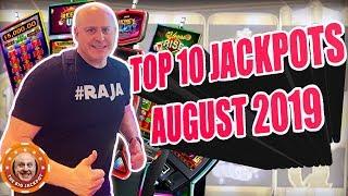 OVER 75K IN JACKPOT$! 🎰TOP 10 BIGGEST JACKPOTS 🎰August 2019