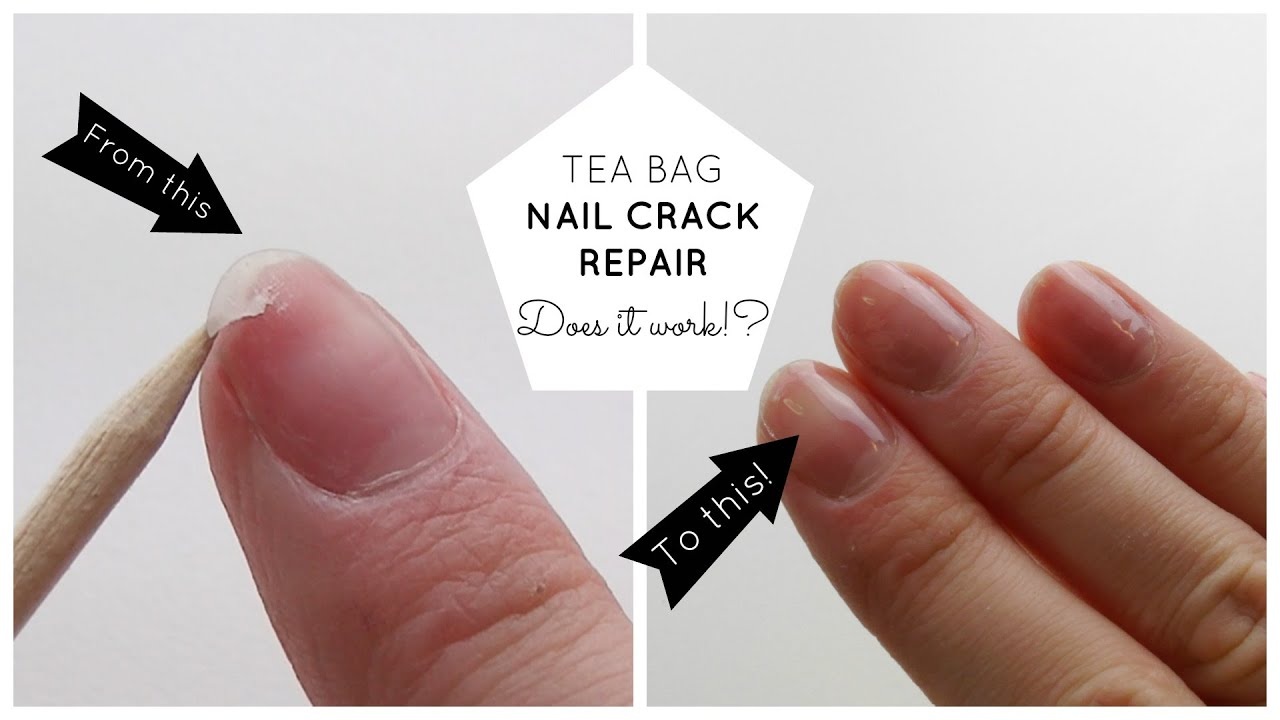 Natural Nails - Repair Cracked Nails Using Tea Bags! - YouTube
