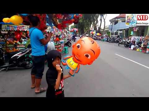 Banyak Penjual Balon Mainan, Qyla Beli Balon Helium Upin dan Dilepas | KUN Anta Versi UpinIpin