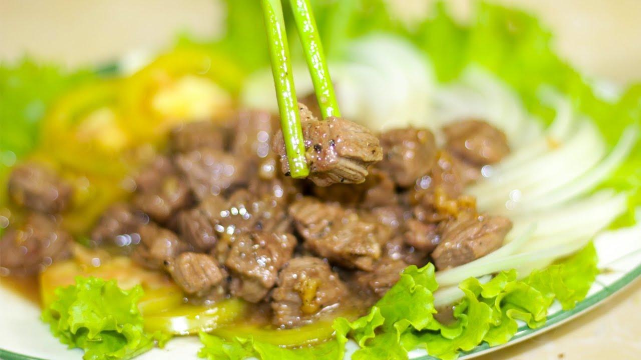 ឆាឡុកឡាក់សាច់គោ | Lok Lak Sach Kor | Beef Lettuce Wraps | Khmer food recipe
