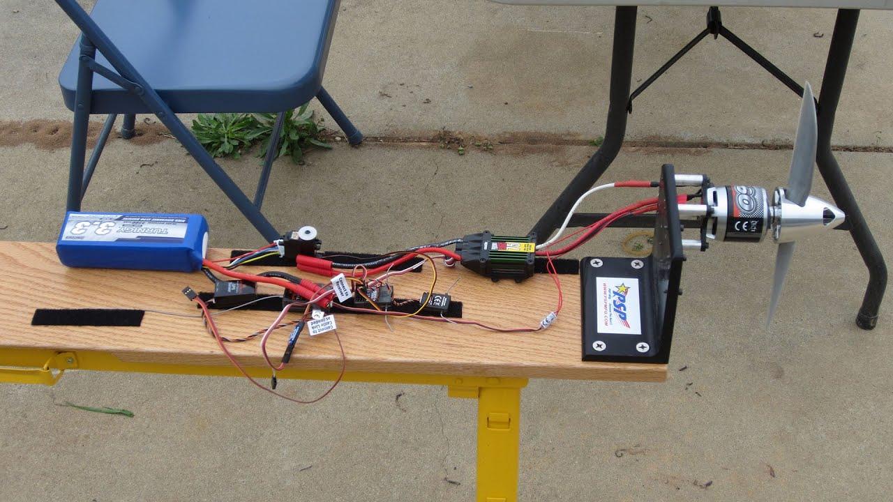 Spektrum DX9 Telemetry Testing - Part 1 - Electric Motor RPM
