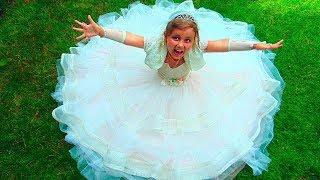 Милана выходит замуж и одевает свадебное платье