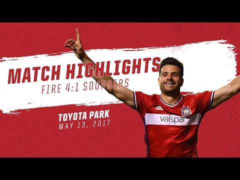 Match Highlights | Chicago Fire 4:1 Seattle Sounders FC | May 13, 2017