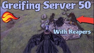 Greifing Them With Reapers! Small Tribe Servers Ark: Survival Evolved