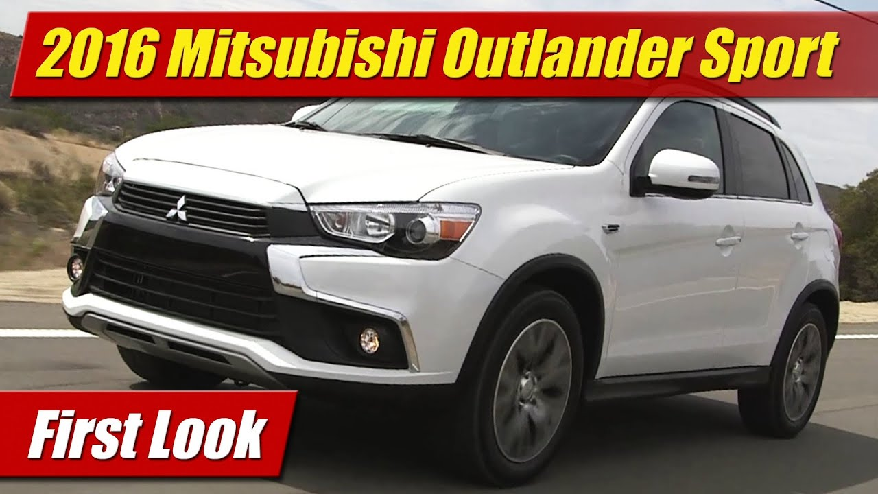2016 mitsubishi outlander sport first look youtube