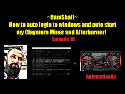 Auto Login / Startup To Windows And Crypto Currency Miner While Away!