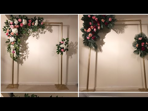 DIY-  Tropical leaves backdrop DIY- Arch backdrop DIY-wedding backdrop