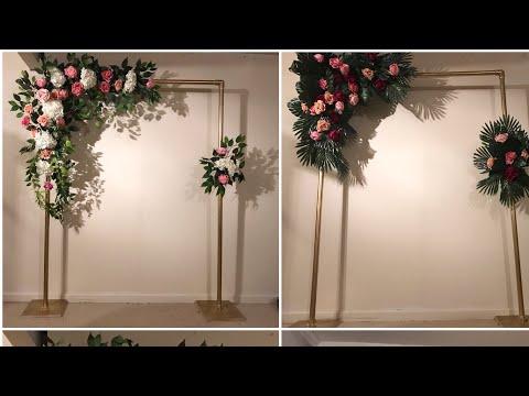 DIY-  Tropical Leaves Backdrop DIY- Arch Backdrop DIY-wedding Backdrop