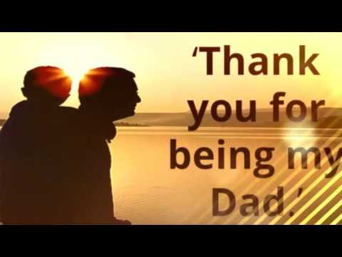 Thank you for being my dad