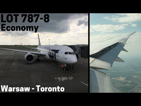 LOT Polish Airlines Boeing 787-8 Full Flight | Economy | Warsaw to Toronto