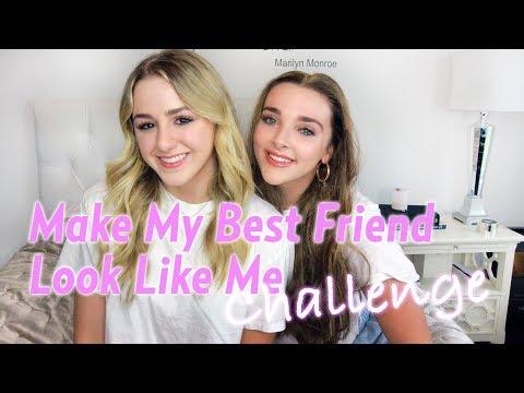 Make My Best Friend Look Like Me Challenge  Chloe Lukasiak