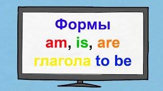 Употребление форм am, is, are глагола to be. Использование 3 форм глагола to be.