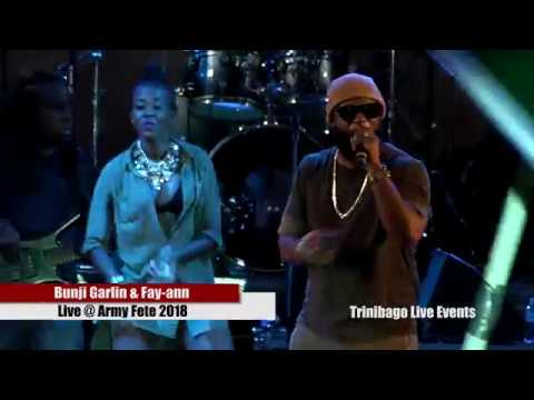 """Bunji Garlin and Fay-Ann (Official Army fete 2018) """"LIVE"""""""