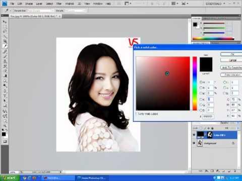 Thay đổi màu tóc trong Photoshop.mp4