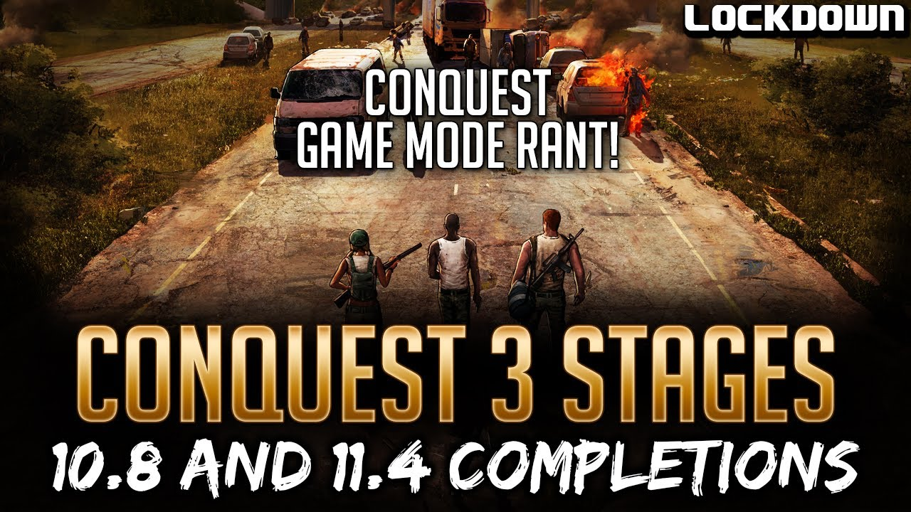 TWD RTS: Conquest 3 Stages & Rant, 10.8 and 11.4 Completion! The Walking Dead: Road to Survival tips