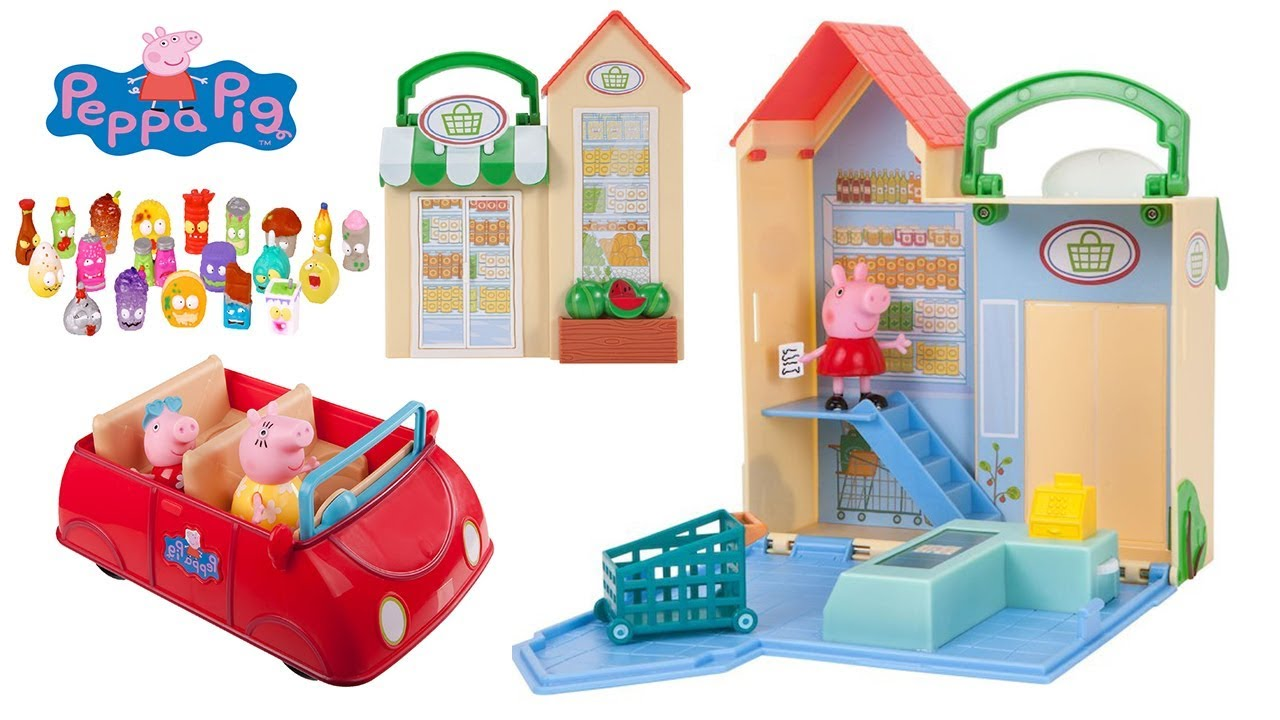 peppa pig little grocery store playset peppa pig 39 s red. Black Bedroom Furniture Sets. Home Design Ideas
