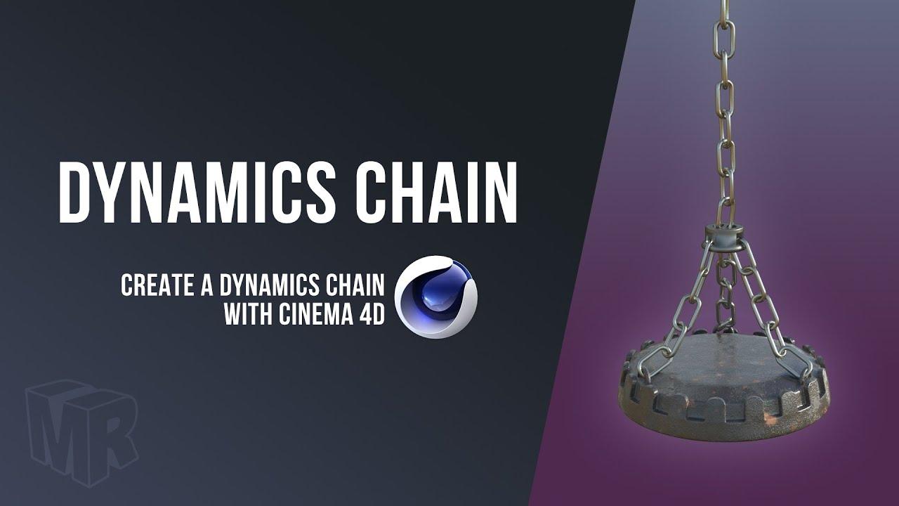 Cinema 4D Dynamics Chain using Connectors