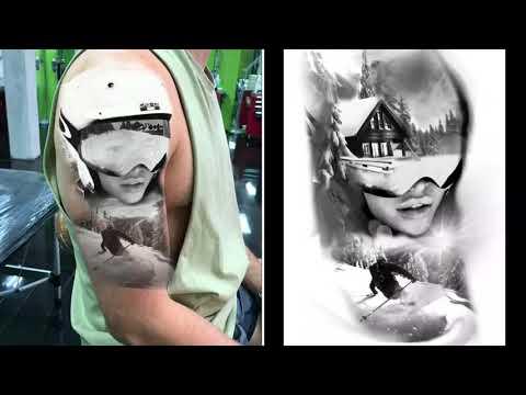 Tattoo design time lapse /tattoo half sleeve