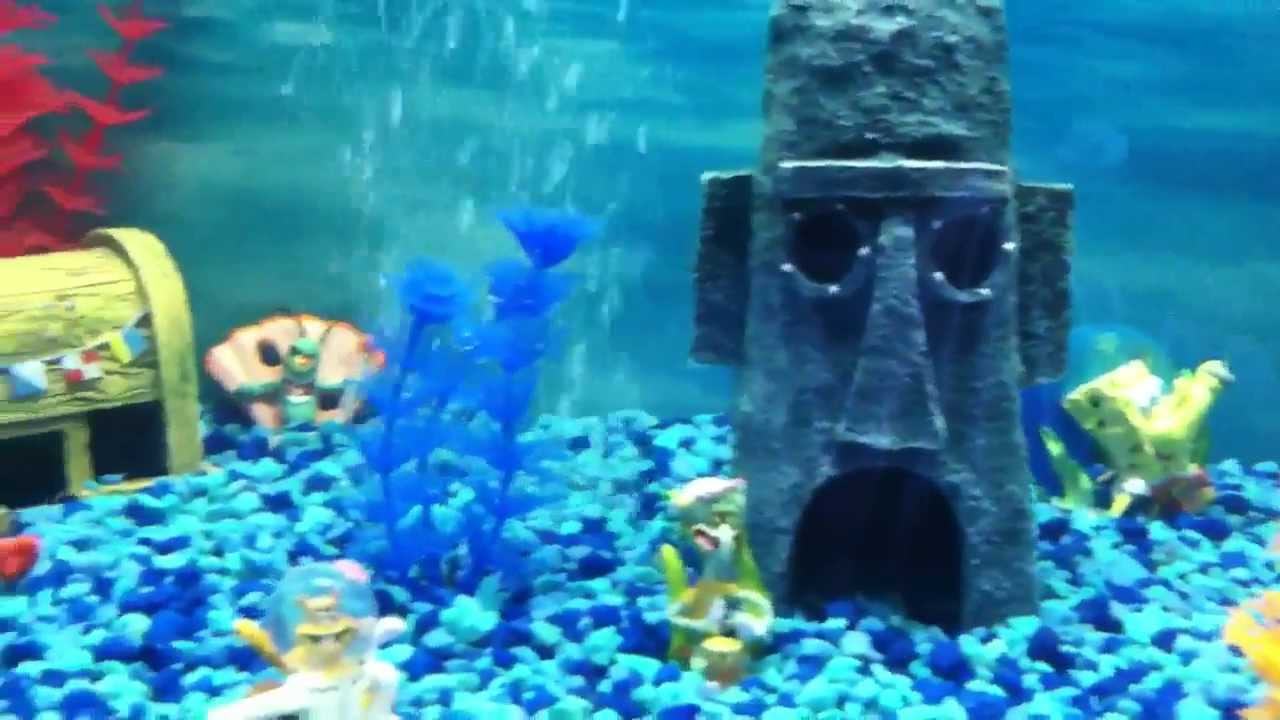 Sponge bob fish tank youtube for Youtube fish tank