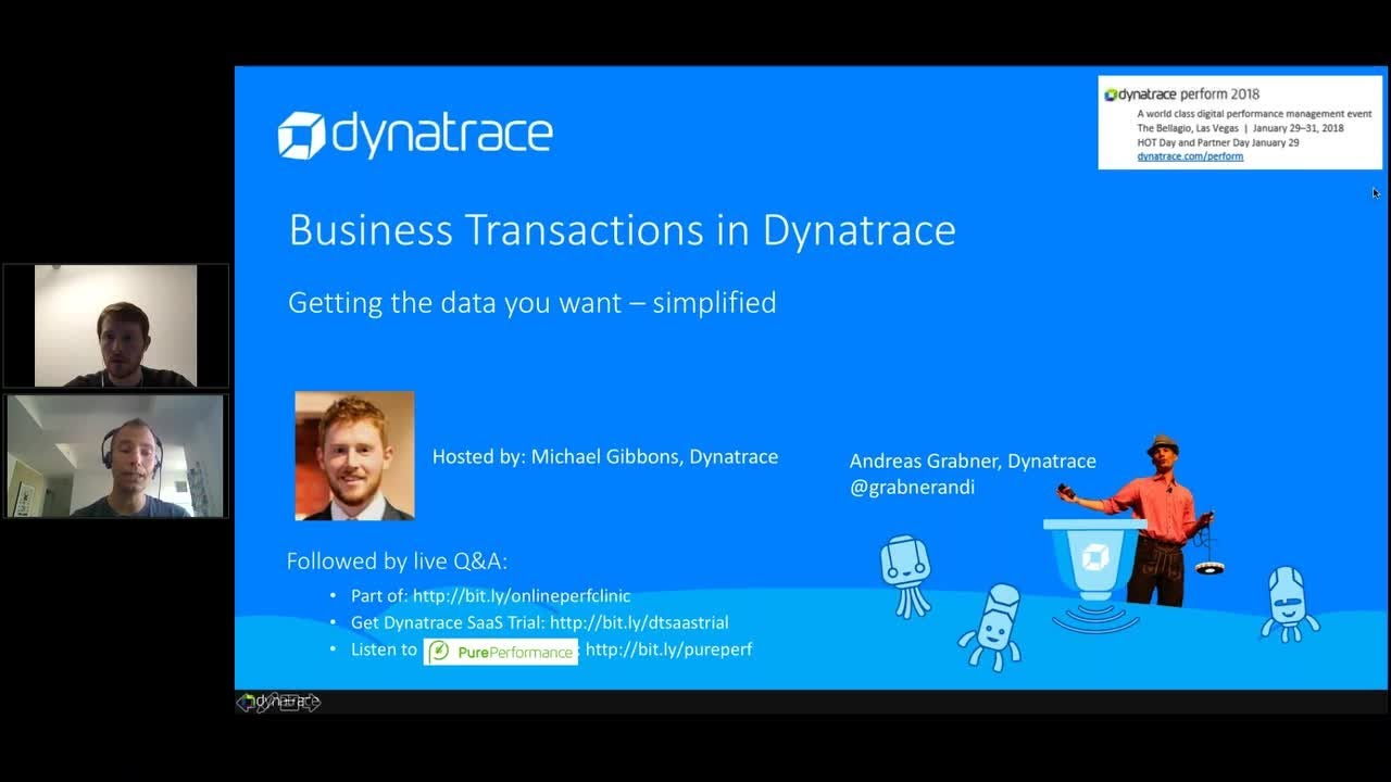 Online Perf Clinic - Business transactions with Dynatrace